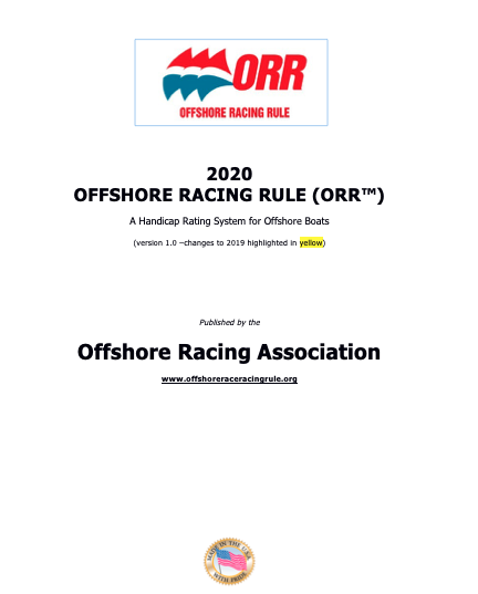 ORR Rulebook 2020 cover